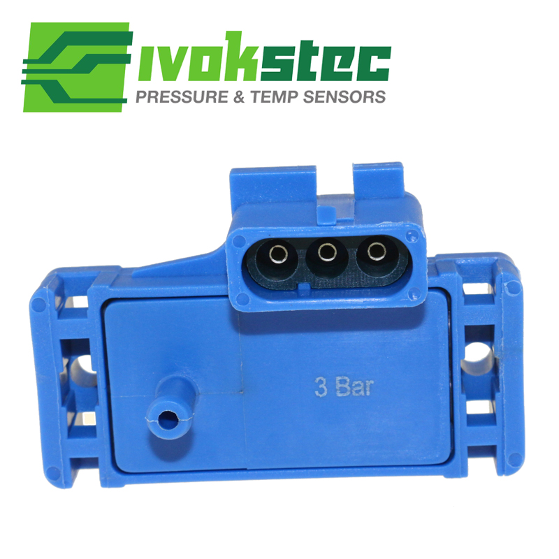 US $13.17 15% OFF|3BAR (3 Bar) MAP Sensor Boost Pressure Intake Air on idle air sensor, map of passat engine, mat air sensor,