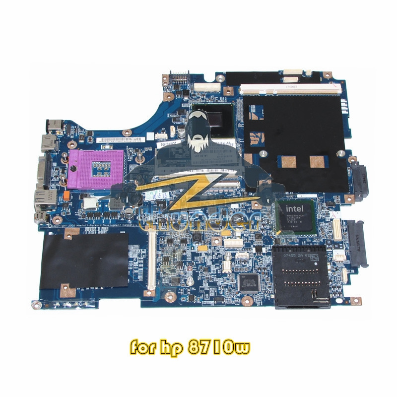 все цены на SPS 450482-001 For HP Compaq 8710W 8710P Laptop motherboard PM965 DDR2 17 inch with graphics slot онлайн