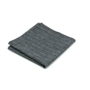 Image 2 - HUISHIคุณภาพสูงลายผ้าฝ้ายสแควร์สำหรับผู้ชายชุดผ้าฝ้ายผ้าเช็ดหน้าธุรกิจHankyสีทึบผ้าเช็ดหน้า
