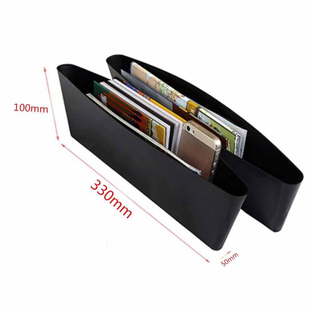 1PC Black Car Scatola di Immagazzinaggio Gap di Riempimento di Plastica Console Pocket Organizer Accessori Interni Seggiolino Auto Side di Goccia Caddy Catcher