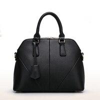2015 New Hot Promotion Women Handbag Splice Shell Pack Lady Double Zipper Shoulder Bags