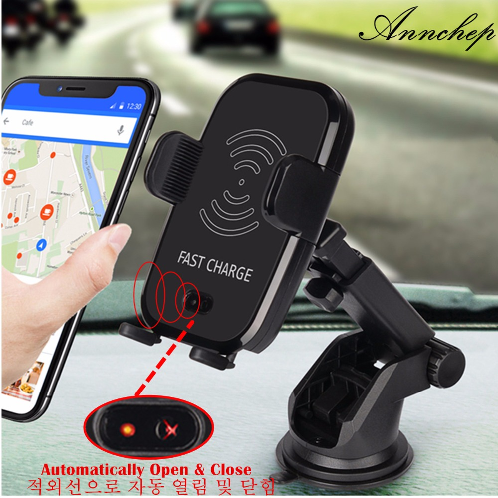 annchep car infrared sensor automatic qi fast wireless car. Black Bedroom Furniture Sets. Home Design Ideas