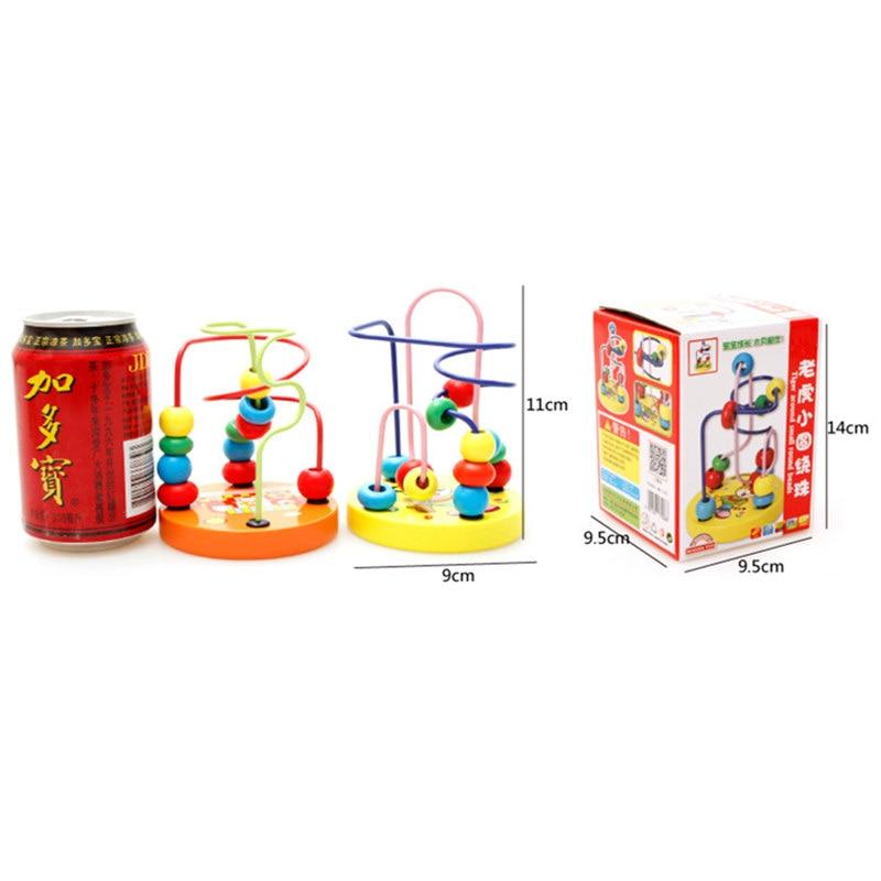 Fargerike Wooden Mini Around Perler Barn Barn Perler Dyreleker Toys - Bygg og teknikk leker - Bilde 6
