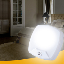 Plug-in LED Night Lights For Kids Smart Sensor Light Control With US EU Plug Night Light For Stairs Bedroom Bathroom Mood Lamp
