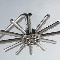 Elevación de Ducha de Latón Macizo Cromado Montado En la Pared de baño Ducha de Lluvia Mezclador Grifo Grifo Válvula Mezcladora de 3-funciones