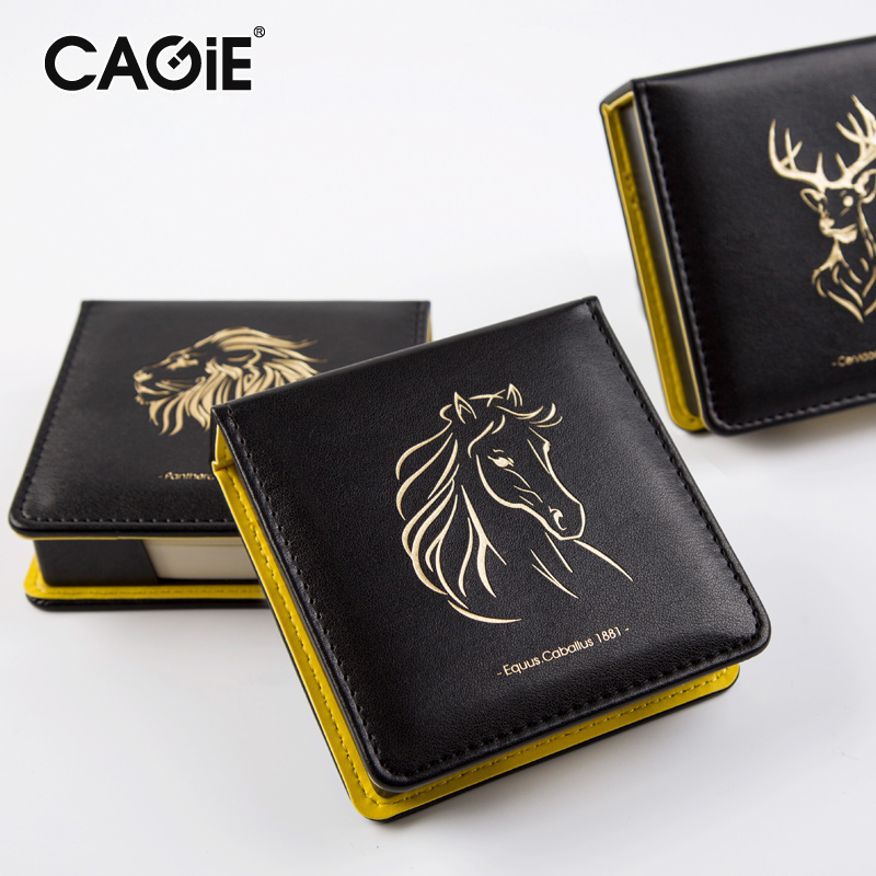 CAGIE Vintage Business Planner Memo Pad 150 Pages Creative Office School Supplies Black Pu Leather Bloco De Notas Notepapd