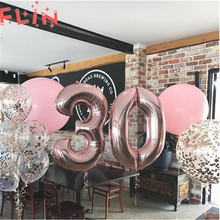 16 32 40 inch Letter Number Balloons Gold Digital Inflatable Balloon Figures Birthday Event Party Wedding Decoration Baby Shower