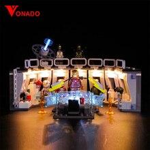 Vonado Legoings 76125 LED lighting avengers Iron Man Machinery Building Blocks Toys Children Only