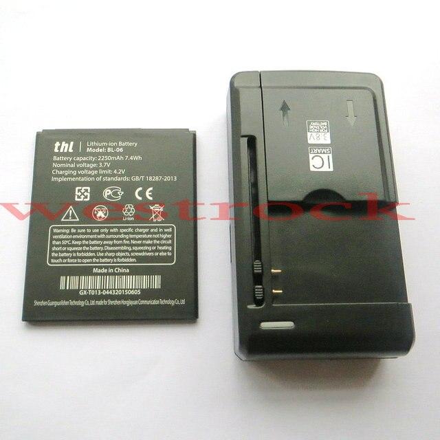 3 шт. = 2x Оригинал THL T6S BL06 Батареи THL T6 Pro/THL T6 Аккумулятор Телефона BL-06 2250 мАч Батареи + 1x Универсальное Зарядное зарядное устройство