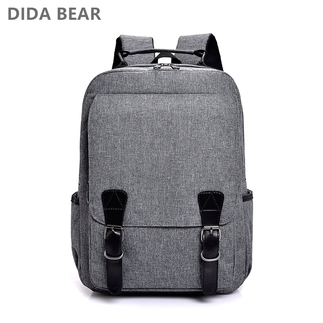 DIDABEAR Men Backpacks Nylon Large Space Rucksack School Backpack For Teenage Boys Male Leisure Travel Bag Bolsas Mochilas Black