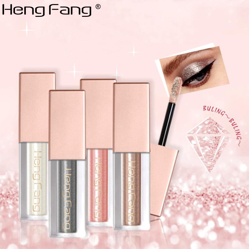 HengFang Metal Liquid Glitter Eyeshadow Makeup Waterproof Shimmer and Shine Gold Silver Luminous Pigments Beauty Tool Stick