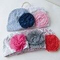 2016 moda primavera bebé sombrero para niñas niño recién nacido algodón divertido flores Beanie Cap lindo accesorios bebé Headwear 0-9 meses