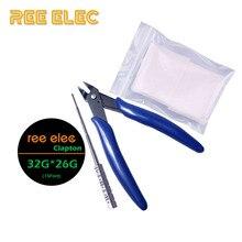 Clapton Coil DIY Tools Kit Organic Cotton Coil Jig Plier Clapton Wire Vape Pen RDA RTA Atomizer Prebuilt Coil Accessories