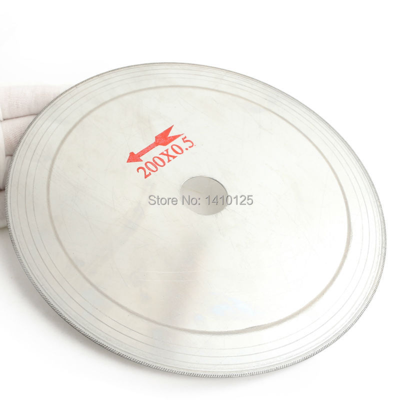 "8"" inch Super-Thin Arbor Hole 25mm Rim 0.65mm Diamond Lapidary Saw Blade Cutting Disc Saving in Material for Jewelry Gems Agate"