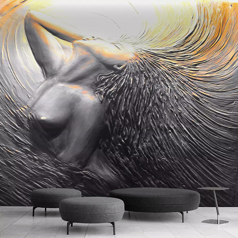 Custom Photo Wallpaper European Style 3D Stereo Figure Mural Living Room Bedroom Creative Art Background Wall Painting 3D Decor