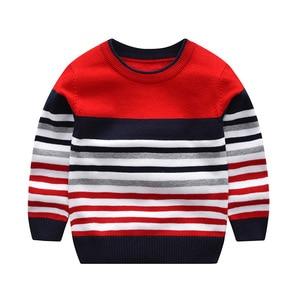 Image 3 - 2 7Y baby boy girl sweter chłopcy swetry 2020 wiosna jesień dzieci swetry dzieci w paski sweter dzianinowy top kid clothes