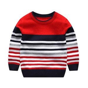 Image 3 - Suéter listrado infantil, blusão de malha para meninos, meninas, primavera e outono, roupas infantis para crianças, 2 a 7 anos, 2020