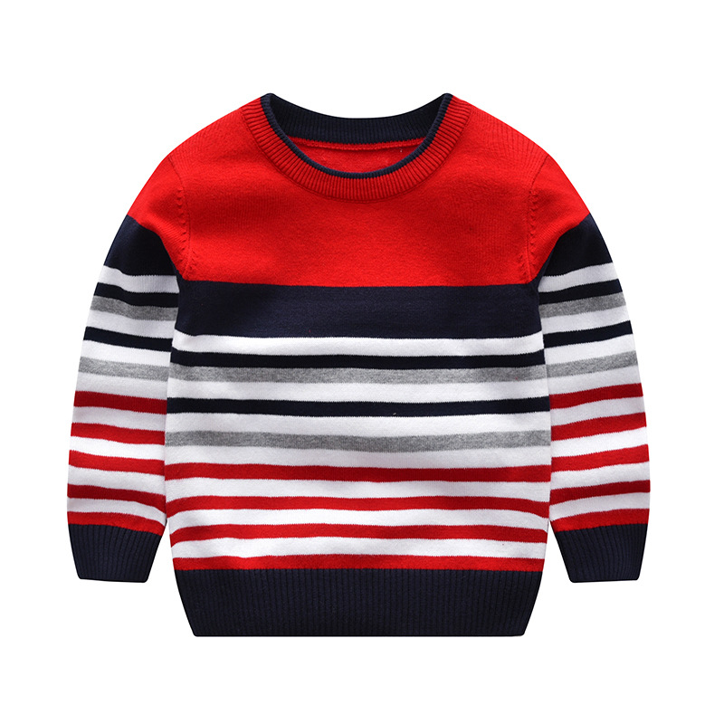 Image 3 - baby boy girl sweater boys sweaters 2019 spring autumn kids sweaters children striped pullover boy girl knitted top kid clothes-in Sweaters from Mother & Kids