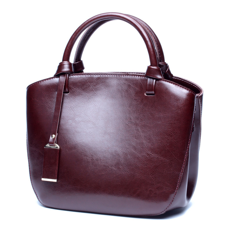 YUFANG Frauen Schulter Tasche Mode Frauen Handtaschen Öl Wachs Echtem Leder Casual Leder Frauen Umhängetasche Tote Tasche-in Taschen mit Griff oben aus Gepäck & Taschen bei  Gruppe 2