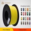 Amarelo cor 1.75/3mm PLA 3D printer filament 1 kg de plástico de Borracha de Materiais Consumíveis