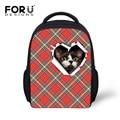 Классический плед газа малый сумка для детский сад дети милые кошка собака голова детям школьные сумки ребенка девочки Mochila Infantil