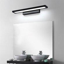 Luz LED de pared de 11W para espejo de baño, lámpara de pared de acrílico moderna resistente al agua, AC85 265V de iluminación para Baño