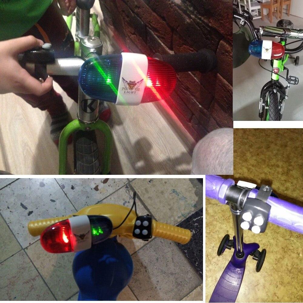 Cykel Bell 6LED 4 Tone Cykel Horn Cykelopkald LED Cykel Politi Lys - Cykling - Foto 4