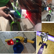 Bicycle Bell 6LED 4Tone Bicycle Horn Bike Police Car LED Bike