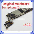 Para iphone 5 original tablero de circuitos 100% trabajo gsm versión 16 gb placa base placa principal para iphone 5 5g desbloquear con chips