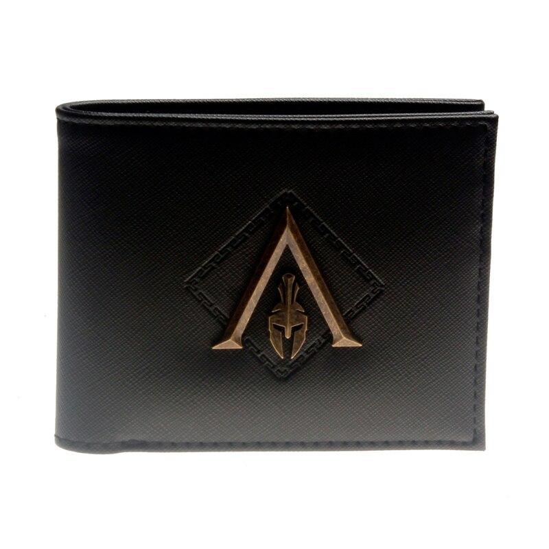 Black Metal Badge Men Bifold Wallet Women Pusre DFT-3143