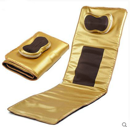 все цены на Gold cervical massage device neck back cushion massage cushion household multifunctional full-body mattress massage pad онлайн
