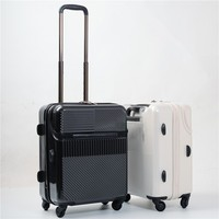 Creative Flip cover trolley case Rolling Luggage Spinner Women Trolley Cabin Suitcase Wheels Hardside Travel bagS Password Trunk