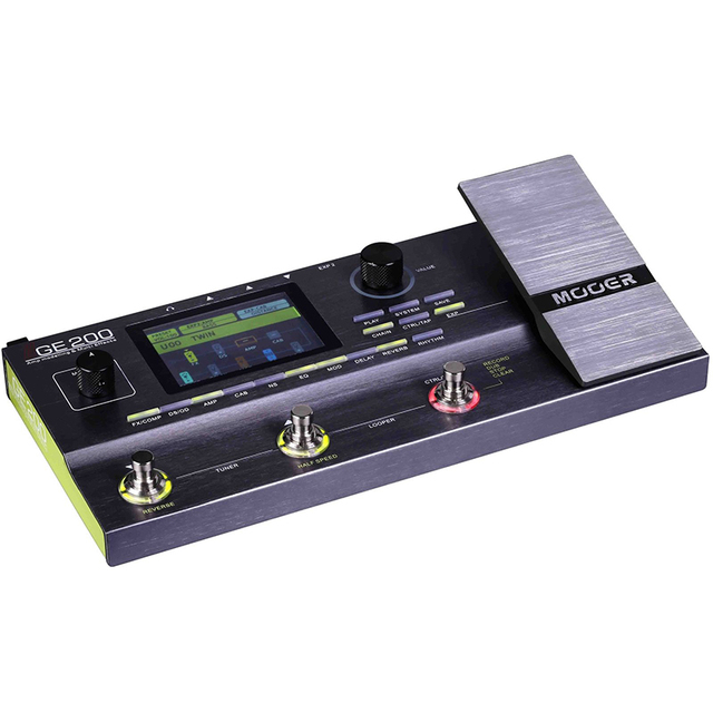 Mooer GE200 Amp modelling Multi Effect Processor Pedal With 26 IR Speaker Cab Model 52 Second Looper 55 Amplifier Models 3