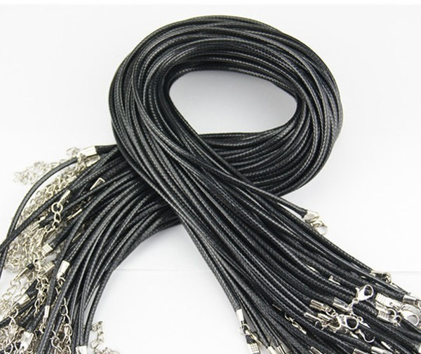 Fashion Necklaces & Pendants Fashion Jewelry Rugged Black Rubber 2.5 mm Cord Lobster Clasp 17