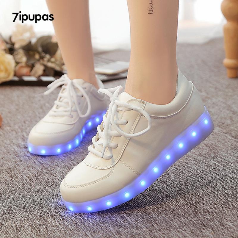 Girls Enthusiastic 7ipupas Glowing Led Shoes Boy&girl Luxe Brand Casual Light Up Sneakers Calzado Hombre Luminous Chaussure Shoes Lumineuse For Kid