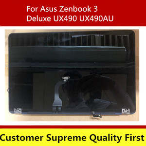 90NB0EI1-R20020 For Asus ZenBook 3V Deluxe UX490 UX490UA UX490UAR Panel Glass Monitor LCD Display complete assembly Back cover(China)