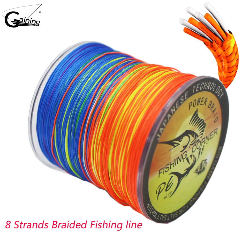 Gaining Improved Braided Fishing Line 8 Strands 300m Abrasion Resistant Braided Lines 20lb-200lb Super Strong PE Fishing Lines