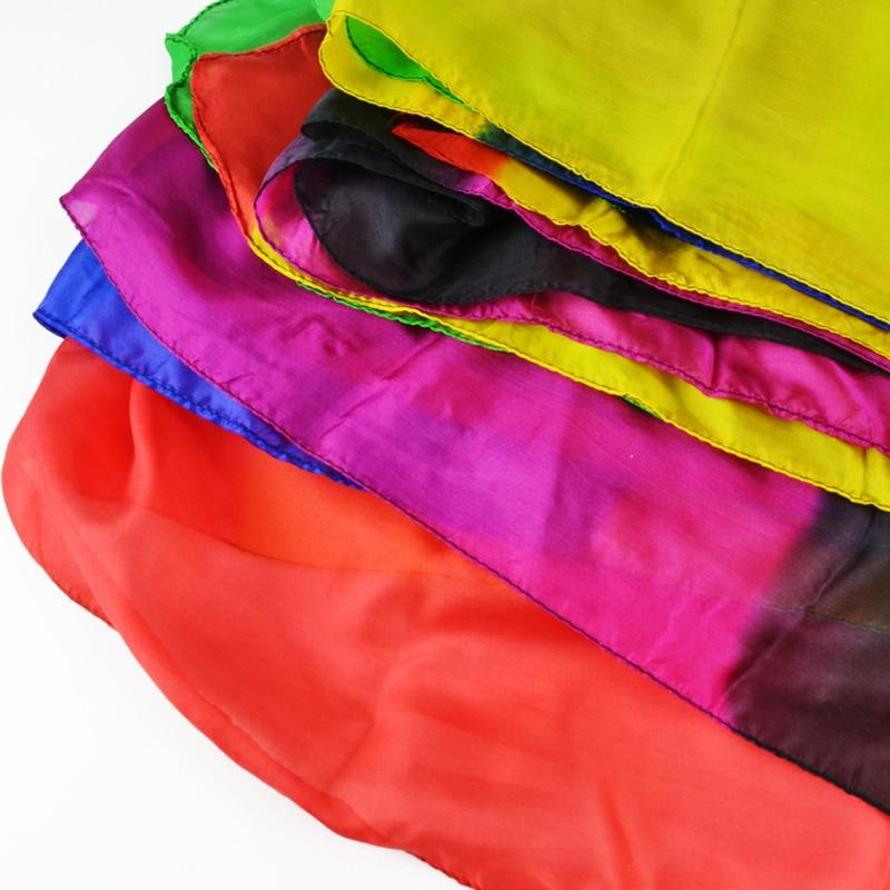 Arc-en-ciel soie Streamer 45*1000 cm Cascade soie Cascade soie fontaine magique Ultra-mince soie foulard accessoires magiques Magia tours - 3