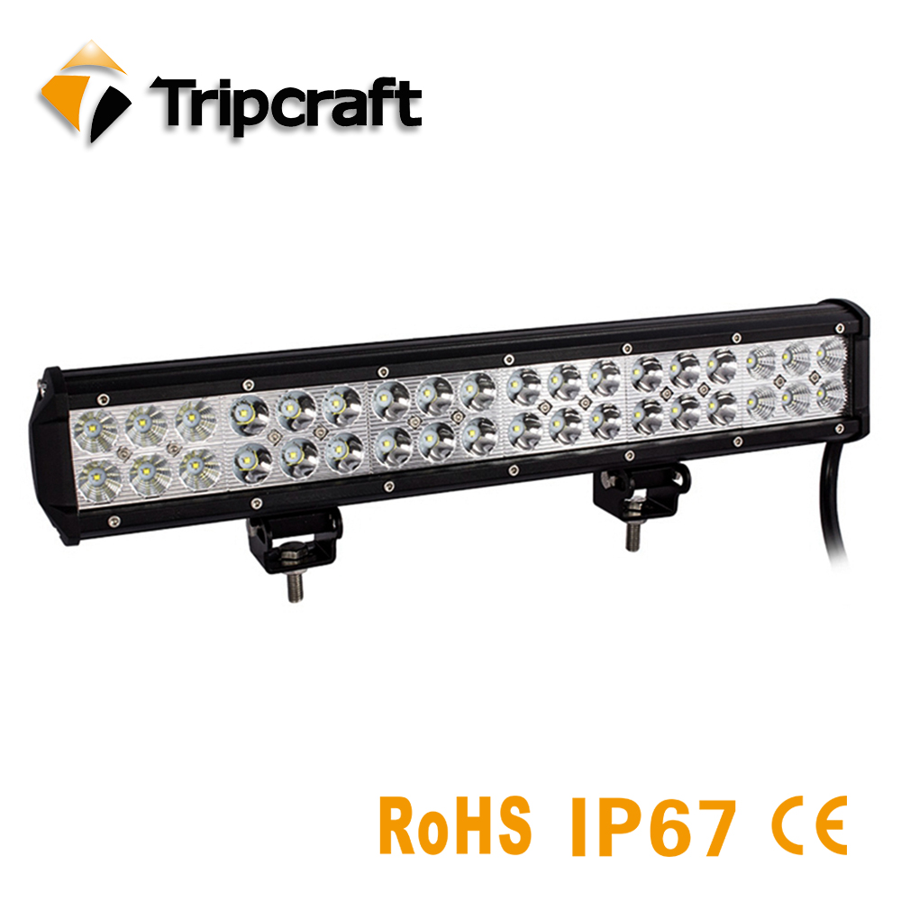 Tripcraft 108W 17inch LED light Bar combo beam offroad led light bar for 12v 24v Boat Tractor Truck 4x4 SUV ATV factory direct hello eovo 5d 32 inch curved led bar led light bar for driving offroad boat car tractor truck 4x4 suv atv with switch wiring kit