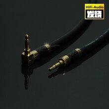 HIFI DIY 3,5mm a 3,5mm auricular Cable de conexión AUX Cable de Audio macho a macho 3,5mm Cable de grabación de coche con carcasa de fibra de carbono