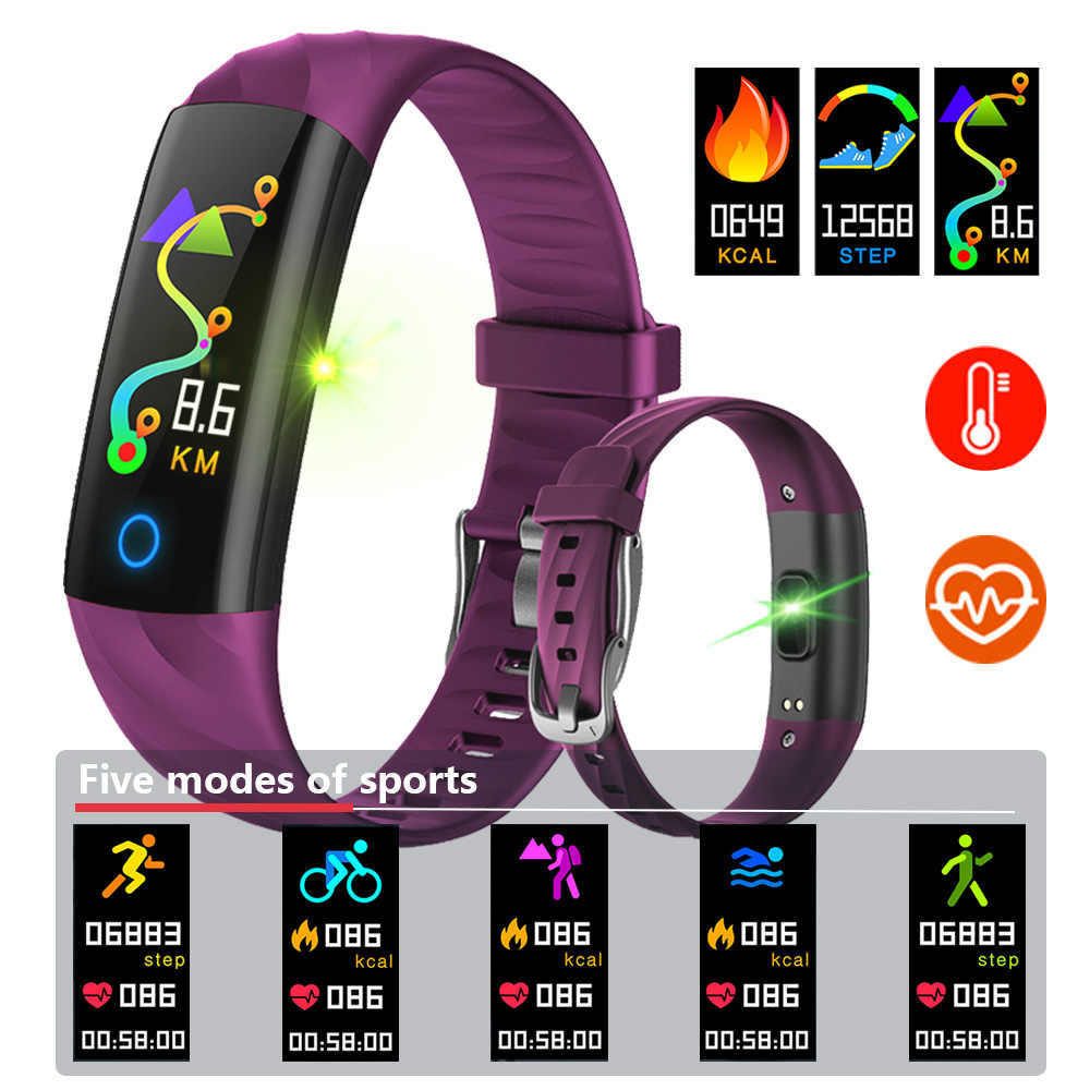 BINSSAW Smart Bracelet IP68 Waterproof Pedometer Heart Rate Blood Oxygen Monitor Fitness Tracker Band Multi Sport Smart Watch