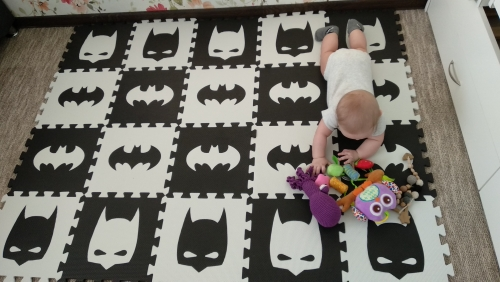 HTB1y9capv5TBuNjSspcq6znGFXaa EVA Children's soft developing crawling rugs,baby play Block Batman/letter/Mickey foam mat Black White pad floor for baby games