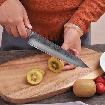 Sunnecko 8″ Chef Damascus Japanese Kitchen Knife