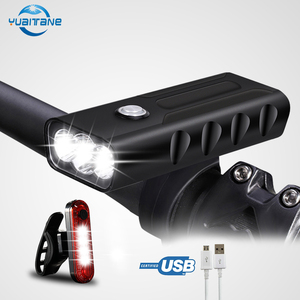 Bike Light 3*L2/T6 USB Rechargeable Built-In 5200 mAh 3 Modes Bicycle Light IPX5 Waterproof Headlight Bike Accessories send gift(China)