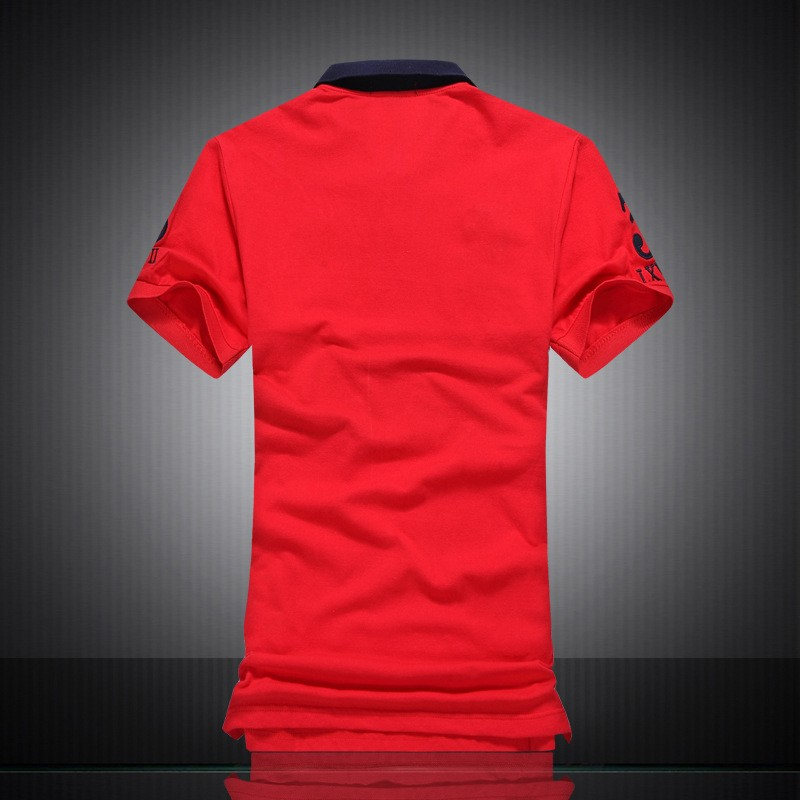 2016-new-mesh-pique-cotton-polo-shirt-hit-the-color-lapel-men-short-sleeve-European-style (2)