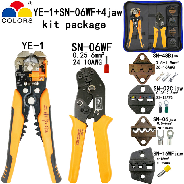 Kit crimping tools SN-2549 SN-48B pliers jaw kit stripping wire cutters pliers for plug/tube/insulation terminals calmp tools