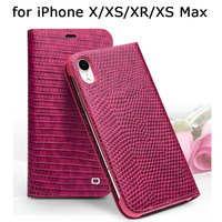 2018 Fashion Rose Case for iPhone XS Max Classic Flip Phone Cover for iPhone XR Genuine Leather Luxury Bag for Fundas iPhone X