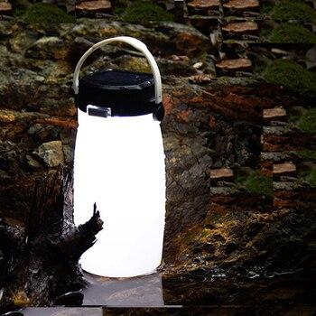 Lanternes Portatives Lampe De Tasse D'eau De Bouteille De Charge Solaire LED Lampe Extérieure De Silicone De Qualité Alimentaire Lampe De Camping Lampe De Tente De Charge