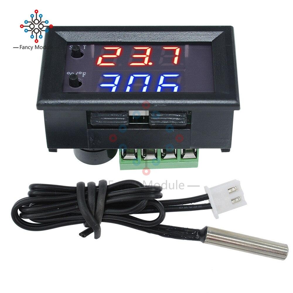 W1209WK цифровой светодиодный термостат контроллер температуры умный датчик температуры плата модуль 12 В DC + водонепроницаемый датчик NTC