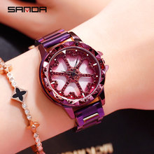 Quartz Wrist Watches for Women 2019 Luxury Brand Fashion Stainless Steel Watch Purple Blue Rose Gold Female Free Shiping